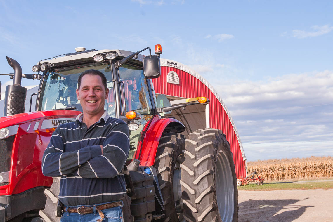 Andrew Dawson with tractor